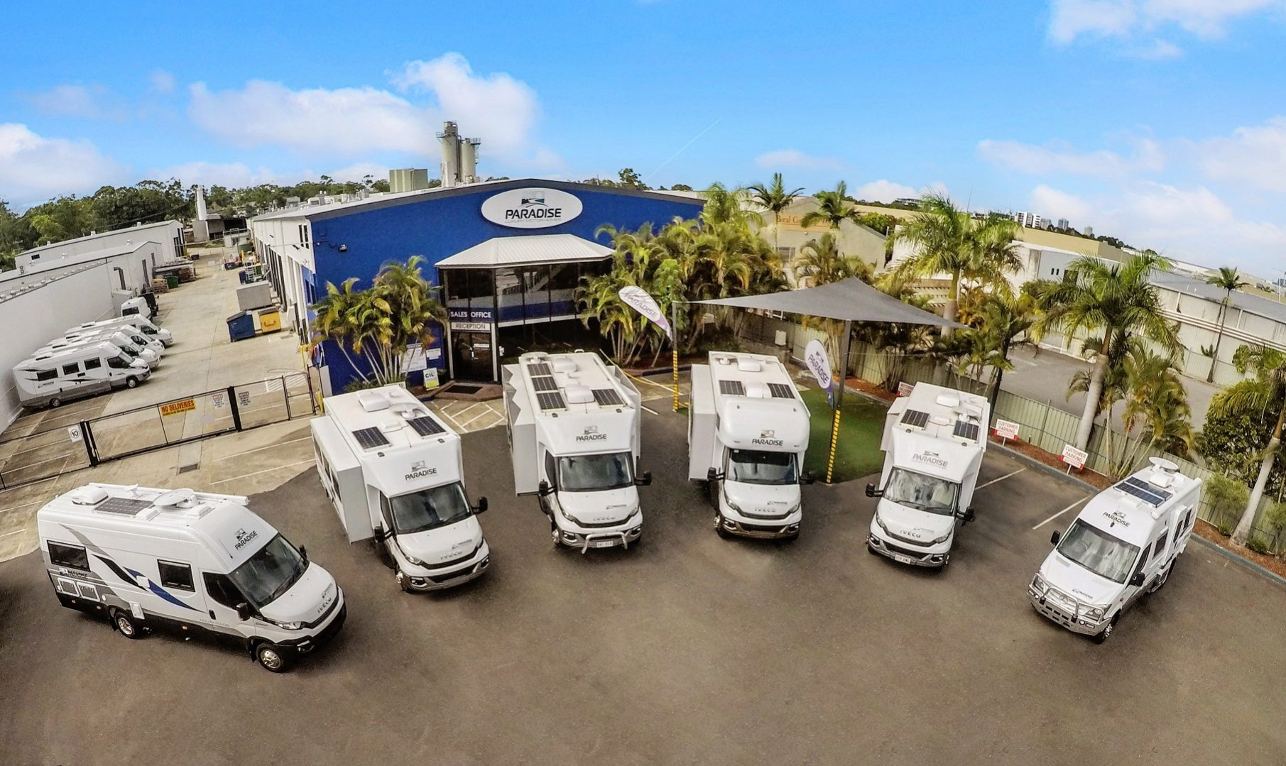 The Paradise Motor Homes Range - Main Slider Image